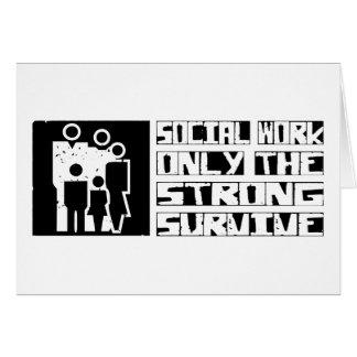 El trabajo social sobrevive tarjeta de felicitación
