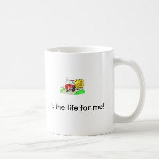 ¡el tractor, es la vida para mí! taza de café