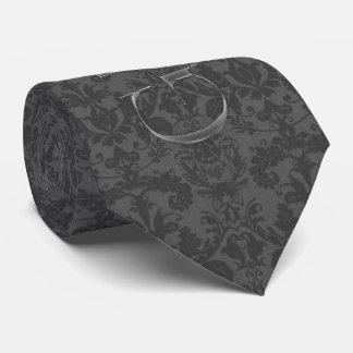 el traje del boda del damasco del gris de carbón corbatas