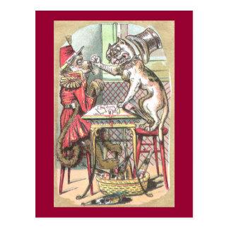 El tramposo de la tarjeta del mono dice el dogo postales