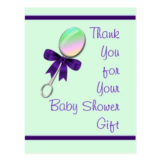 El traqueteo del bebé agradece le y personalizar tarjetas postales
