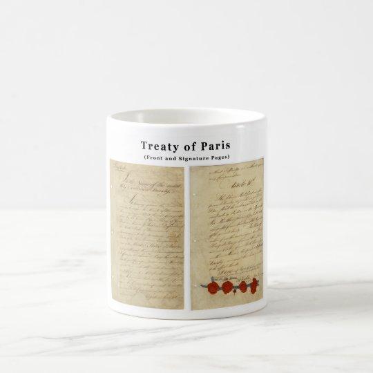 El tratado ORIGINAL de París 1783 Taza De Café