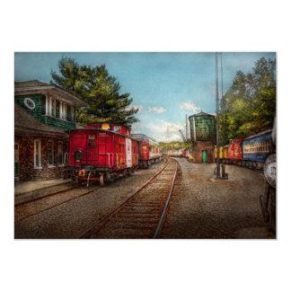 El tren - Caboose - los boletos satisface Invitación 12,7 X 17,8 Cm
