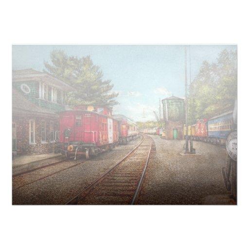 El tren - Caboose - los boletos satisface Invitacion Personalizada