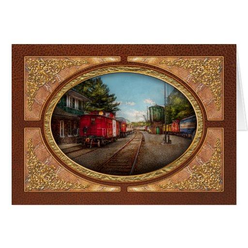 El tren - Caboose - los boletos satisface Tarjetas