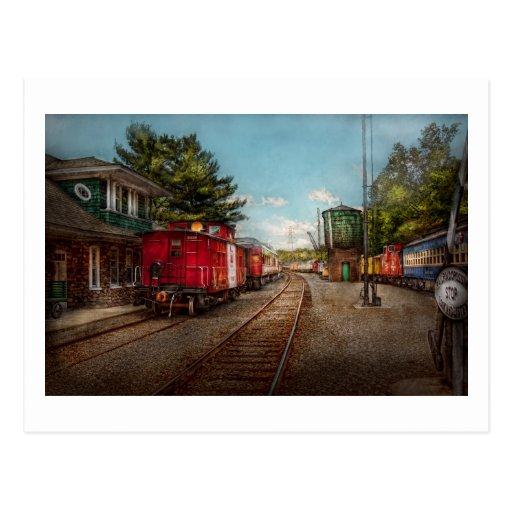 El tren - Caboose - los boletos satisface Postales
