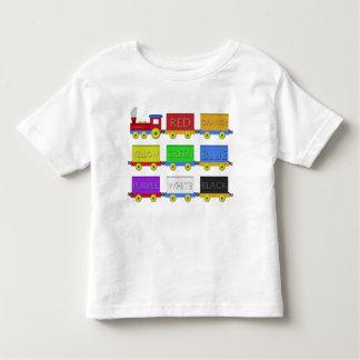 El tren del color camiseta de bebé