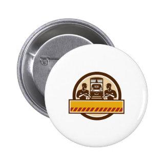 El tren dirige los brazos cruzó el círculo diesel chapa redonda de 5 cm