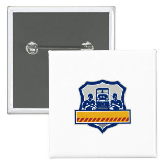 El tren dirige los brazos cruzó el escudo diesel chapa cuadrada