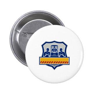 El tren dirige los brazos cruzó el escudo diesel chapa redonda de 5 cm