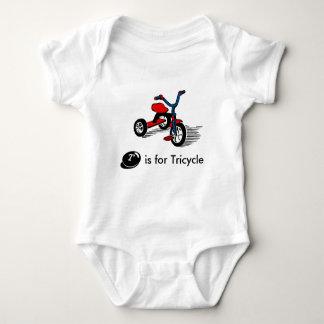 El triciclo lindo embroma la camiseta