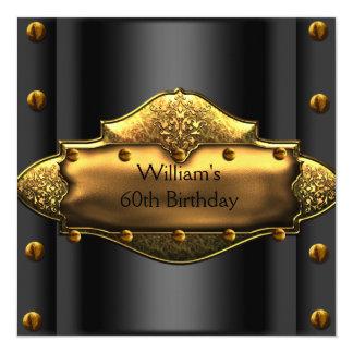 El trigésimo oro para hombre de la fiesta de invitación 13,3 cm x 13,3cm