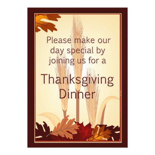 El trigo del otoño de la acción de gracias y la ce comunicado