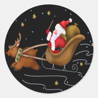 El trineo de Santa - hoja del pegatina