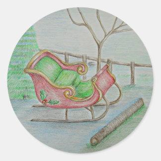 El trineo de Santa Etiquetas