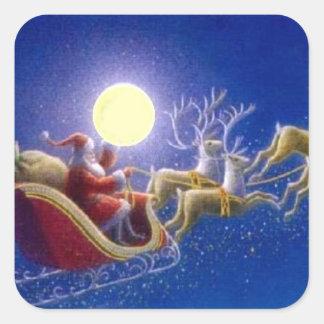 El trineo de Santa - pegatina