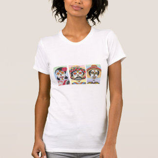 El trío de dos Mariachis y Felina Camisetas