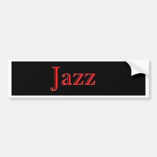 El trío del jazz moderno pegatina para coche