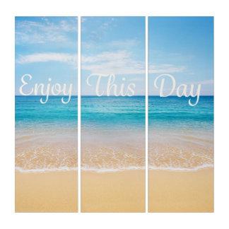 El tríptico de la playa disfruta de este día