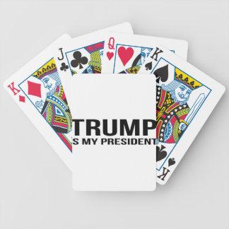 El triunfo es mi presidente baraja de cartas bicycle