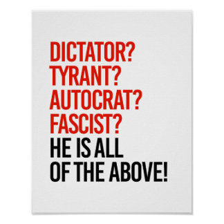 El triunfo es un fascista del autócrata del tirano póster