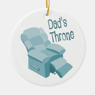 El trono del papá ornaments para arbol de navidad