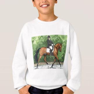 El trotar de la bahía del caballo del Dressage del Sudadera