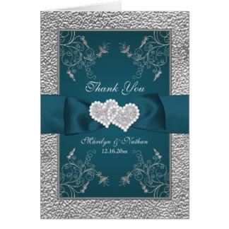 El trullo, boda floral de la plata le agradece tarjeta pequeña