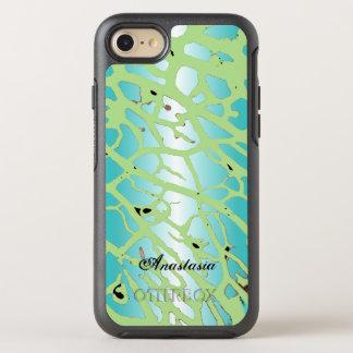 El trullo moderno de la luz de la verde menta va funda OtterBox symmetry para iPhone 8/7