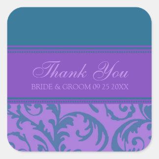 El trullo y la púrpura le agradecen las etiquetas pegatina cuadradas personalizadas