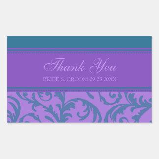 El trullo y la púrpura le agradecen las etiquetas rectangular pegatinas
