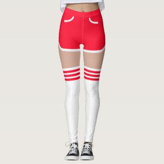 El tubo retro rojo de los pantalones cortos OTK
