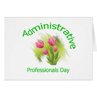 El tulipán florece día administrativo de los profe felicitación