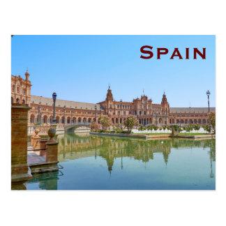 El turismo del viaje del vintage de España añade Postal