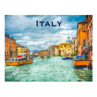 El turismo del viaje del vintage de Italia añade Postal