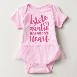 El tutú rosado personalizado robó mi corazón de body para bebé