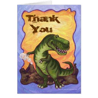 El Tyrannosaurus lindo Rex le agradece cardar Tarjeta De Felicitación