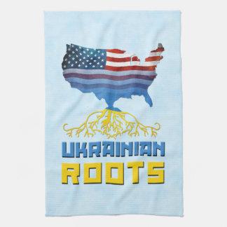 El ucraniano americano arraiga las toallas de