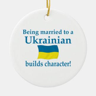 El ucraniano construye el carácter adorno