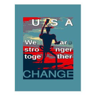 El último lema de la campaña de Hillary Clinton Postal