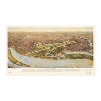 El último Washington D.C. Map (1915) Impresión En Lienzo