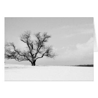 El un árbol en tarjeta de felicitación del
