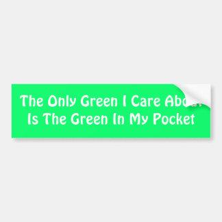 El único cuidado AboutIs del verde I el verde en m Pegatina Para Coche