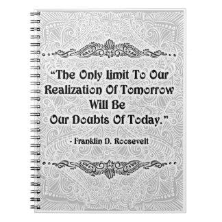 El único límite - Quote´s positivo Cuaderno