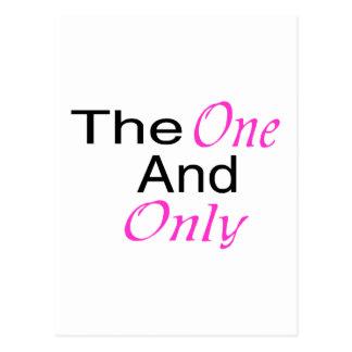 El único y solamente (rosa) postal