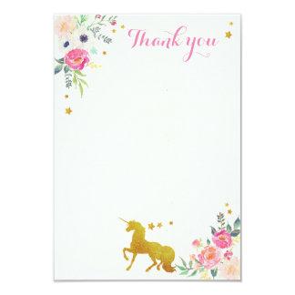 El unicornio le agradece tarjeta de nota invitación 8,9 x 12,7 cm