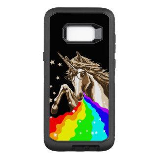 El unicornio pukes el arco iris funda otterbox defender para samsung galaxy s8+
