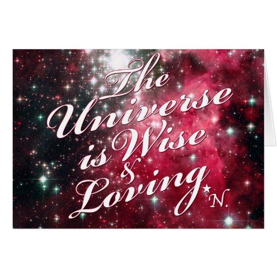 El universo es tarjeta de felicitación sabia y