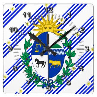 El Uruguayan raya la bandera Reloj Cuadrado