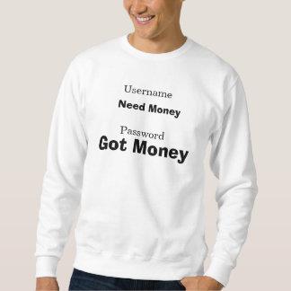 El username, contraseña, dinero de la necesidad, suéter
